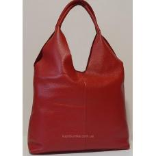 Кожаная женская сумка PV48-2 Вишневый