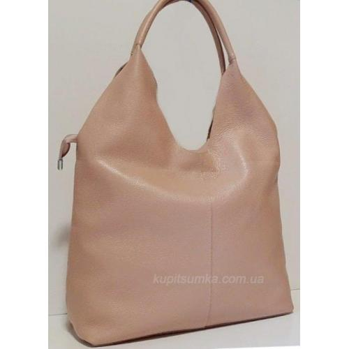 Кожаная розовая сумка для женщин 48B