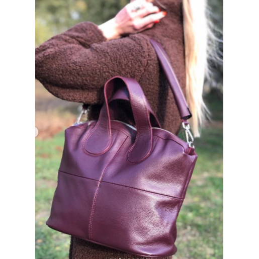 Женская кожаная сумка PV22-7 Бордовый