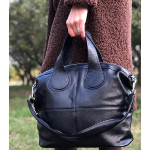 Женская кожаная сумка PV22-9 Черный