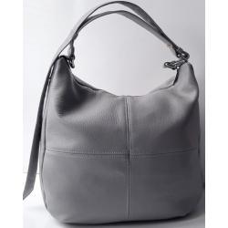 Женская кожаная сумка серая PB14-5