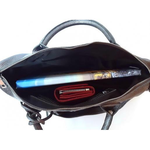 Женская кожаная сумка 20PB10 Графитовый