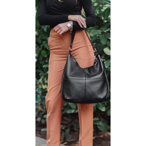 Женская кожаная сумка через плечо PB14-1Черный