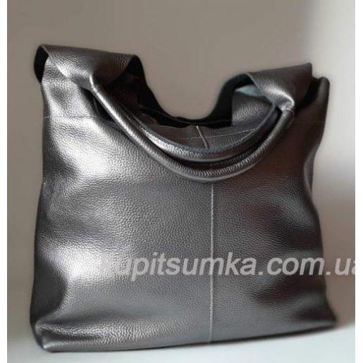 Женская сумка кожаная 48PB-3 Графитовый