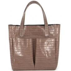 Кожаная сумка женская капучино VP02K-2