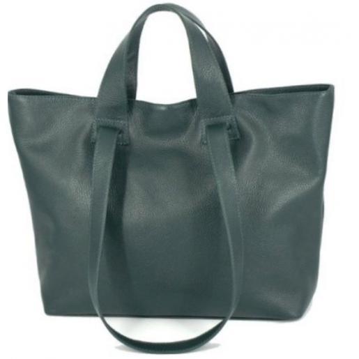 Женская сумка кожаная зеленая VP56-23