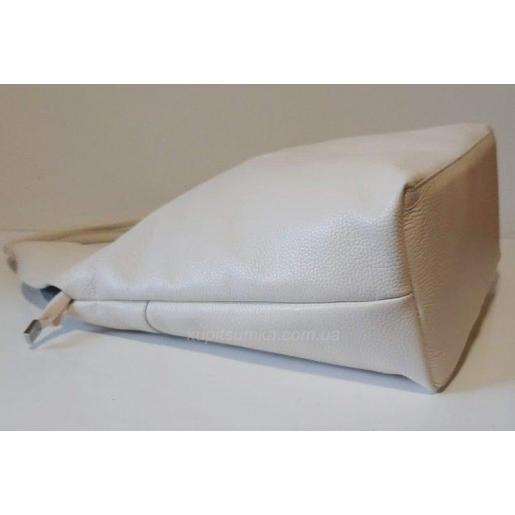 Хит сезона! Женская сумка баул из натуральной кожи Бежевый