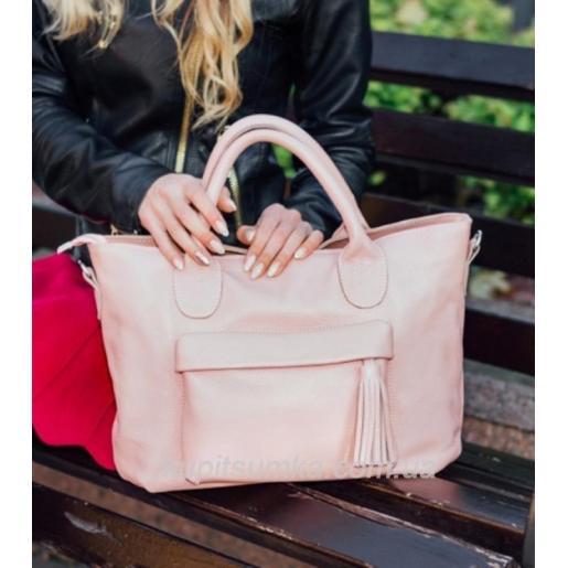 Женская сумка из натуральной кожи 26PB-1 Розовый