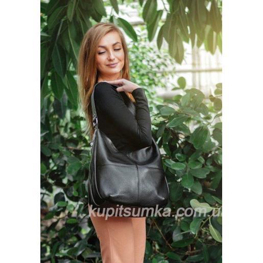 Женская сумка - мешок из высококачественной мягкой натуральной кожи