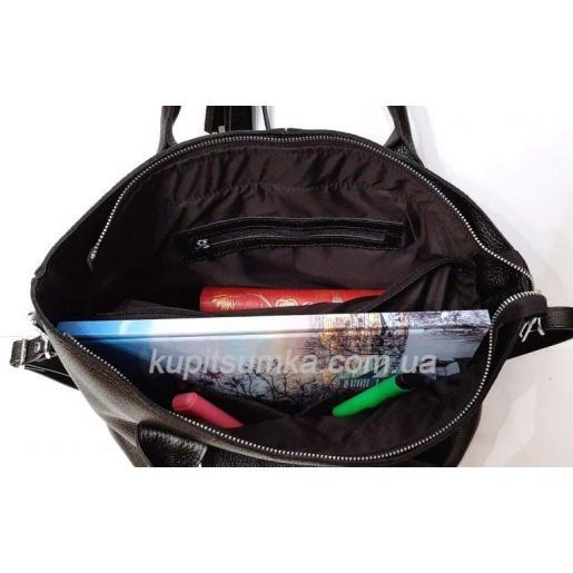 Элегантная кожаная сумка для женщин Черный