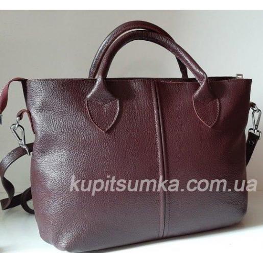 Кожаная женская сумка PB23-7 Бордовый