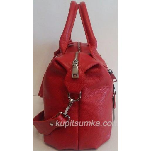 Женская кожаная сумка PB20-3 Красный