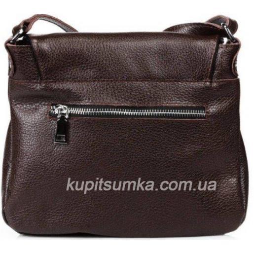 Женская сумка кожаная кросс - боди коричневая 19B-134
