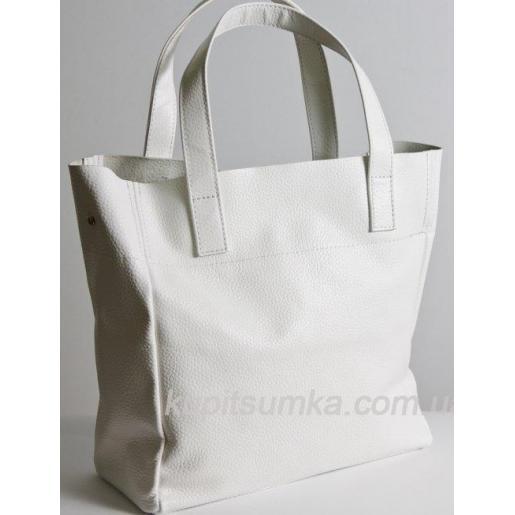 Женская кожаная сумка 02PB6 Белый