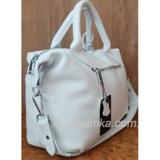 Женская кожаная сумка PB20-5 Белый