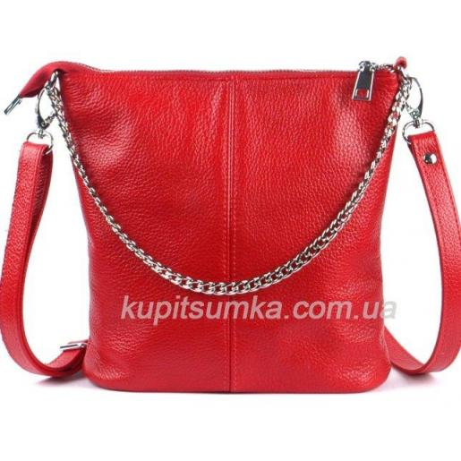 Женская кожаная сумка - планшет красная 41BP-712