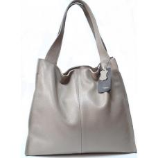 Женская кожаная сумка Casual 12-32PB Cappuccino