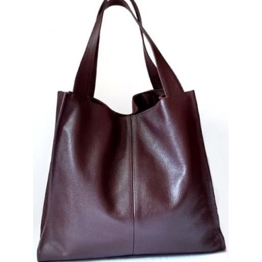 Женская кожаная сумка Casual 12-1PB Марсала