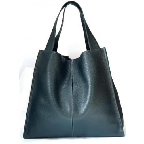 Женская кожаная сумка Casual 12-2PB Зелёный