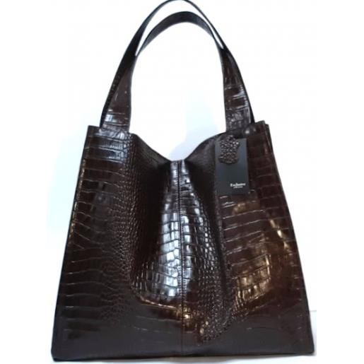 Женская кожаная сумка Caiman 12-1BP Brown