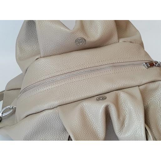 Женская сумка из кожи капучино 31PB-4