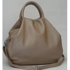 Женская кожаная сумка бежевая 31PB-1