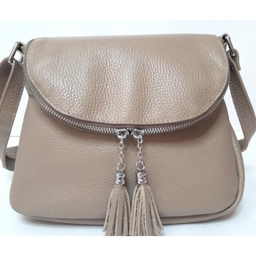 Женская кожаная сумка кросс-боди PV19-23 Бежевый