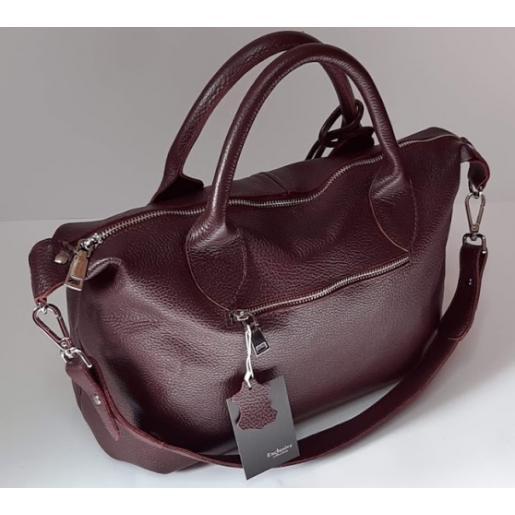 Кожаная женская сумка из натуральной кожи BP20-7 Бордовый