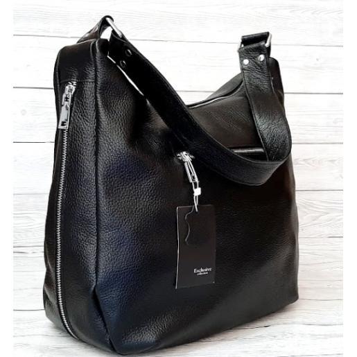 Женская кожаная сумка VP14-1 Черный