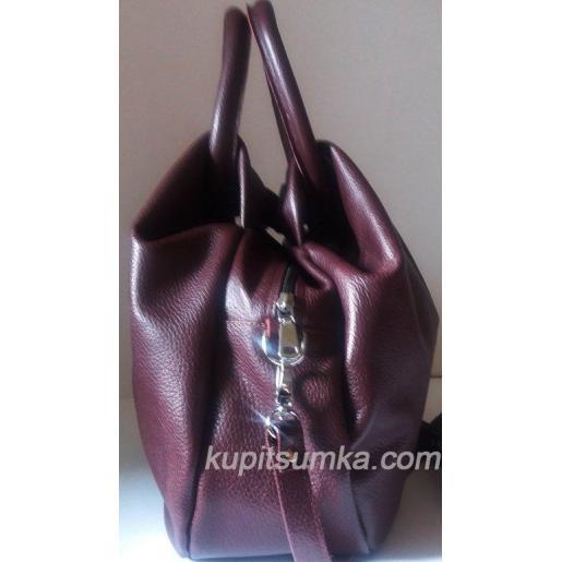 Женская кожаная сумка  31PB-13 Марсала