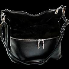 Женская сумка из натуральной замши и кожи VP42-1 Черный