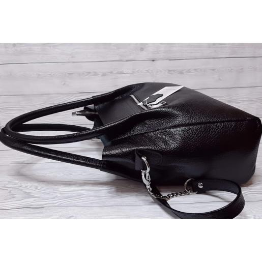 Женская кожаная сумка CRO BLACK PB33-1