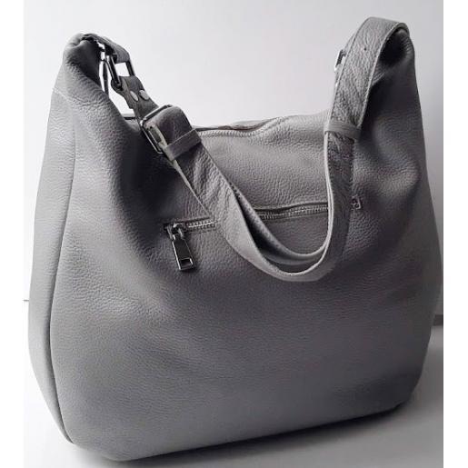 Женская кожаная сумка PB14-5 Серый