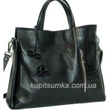 Женская кожаная сумка BP37-1 Черный