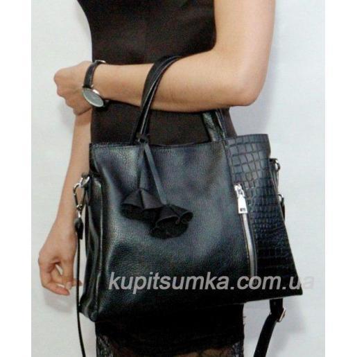 Женская кожаная сумка 38PB Черный