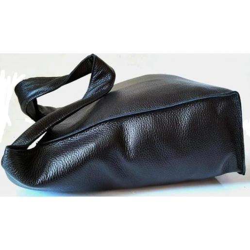 Черная женская кожаная сумка PB18-1