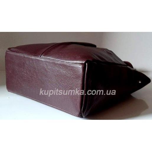 Женская кожаная сумка шопер 02PB-1Марсала