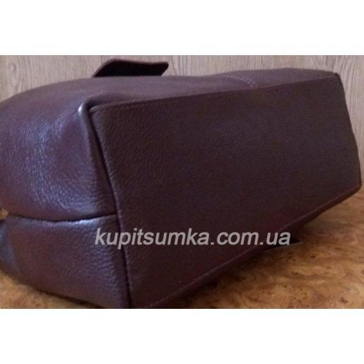 Великолепная сумка из натуральной телячьей кожи на два отделения цвет марсала 