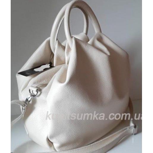 Женская сумка из кожи 31PB-4 Бежевый