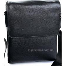 Классическая кожаная сумка планшет чёрного цвета