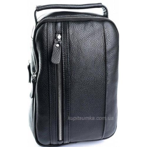 Модная мужская кожаная сумка через плечо