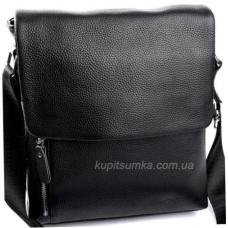 Мужская кожана сумка с передним карманом
