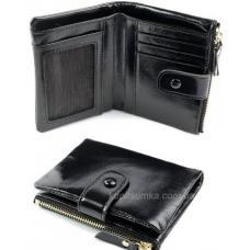 Женский кожаный кошелек в винтажном стиле черного цвета