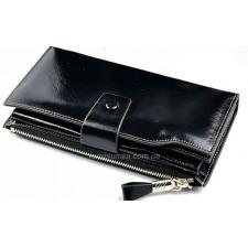 Чёрный кошелёк из натуральной кожи 3302D-2
