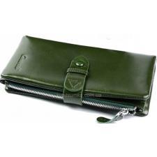 Женский кожаный кошелек зеленого цвета