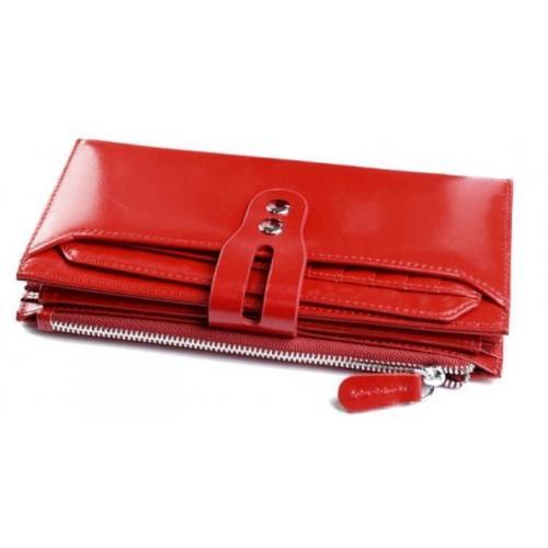 Женский кошелек из кожи D1711 Красный