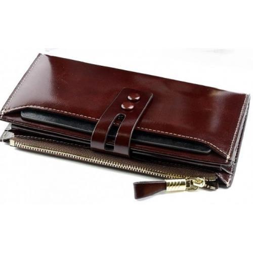 Женский кожаный кошелек 33D12-3 Коричневый