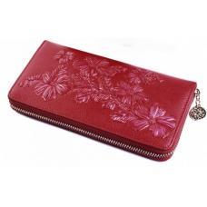 Кожаный женский кошелек AD138-3124-1 Красный
