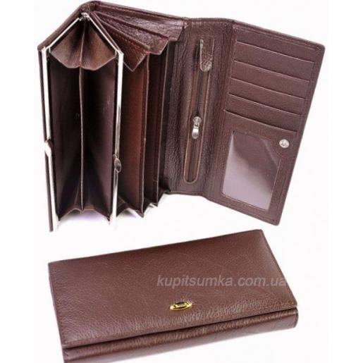 Женский коричневый кошелек из кожи ED015242