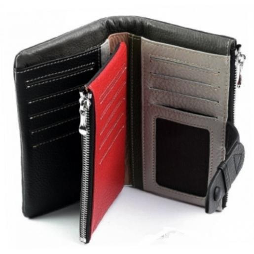 Женское кожаное портмоне черное 12-99D36-6